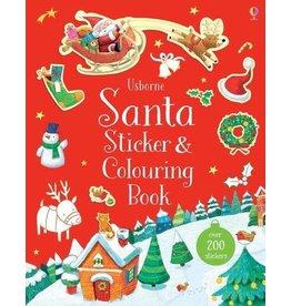 Usborne Santa Sticker & Colouring Book