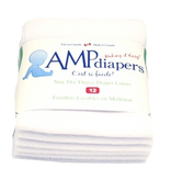 AMP Diapers AMP Stay Dry Fleece Liners 12pk