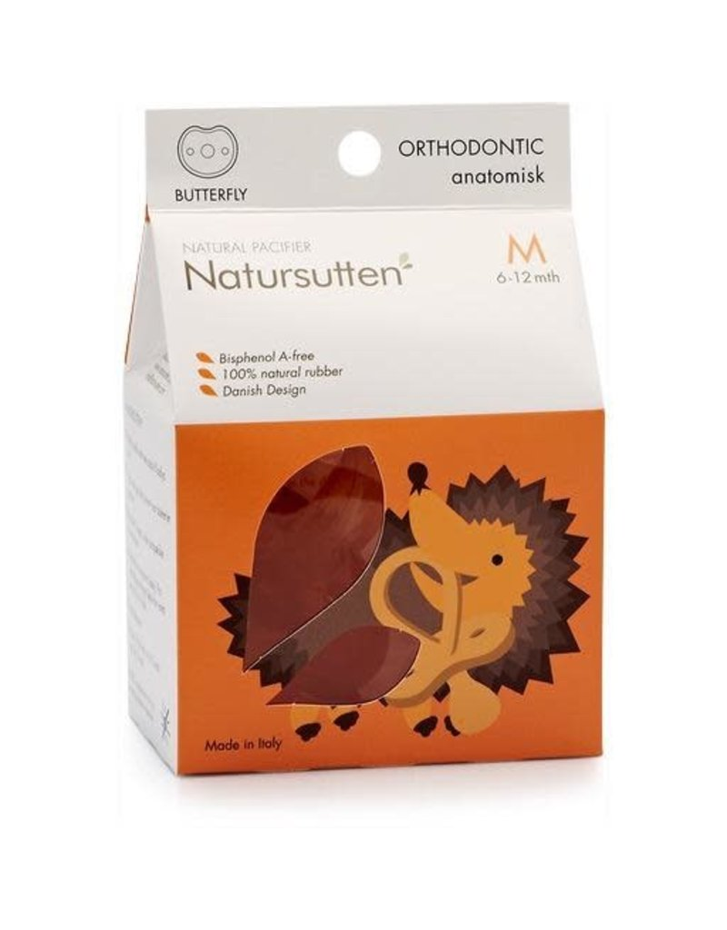 Natursutten Butterfly Ortho Soother, natural, M (6-12m)