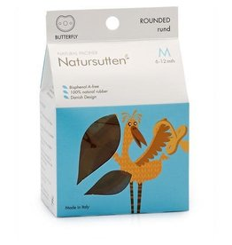Natursutten Butterfly Round Soother, natural, M (6-12m)