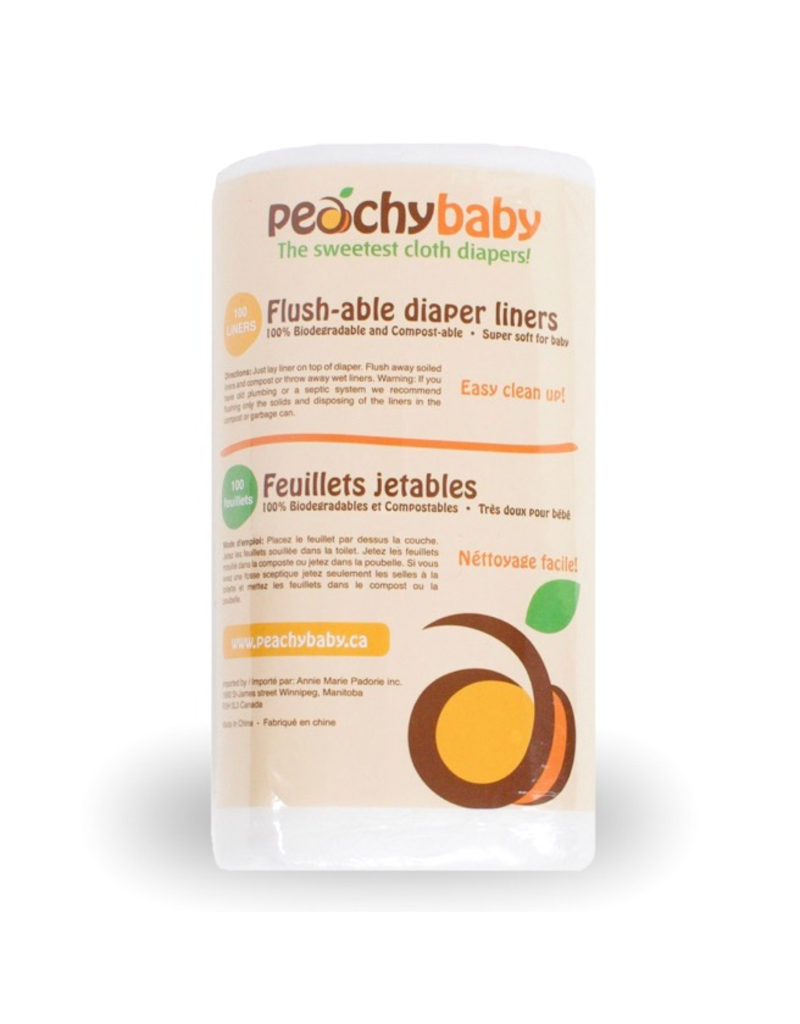 AMP Diapers Peachy Baby Flushable Liner