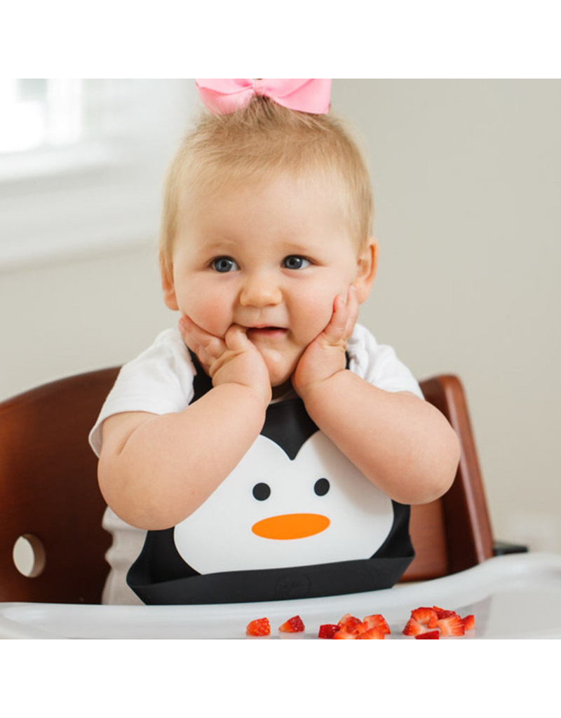 Make My Day Silicone Bib, Chill Out (Penguin)