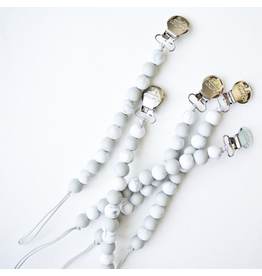 Loulou Lollipop Silicone Marble Pacifier Clip