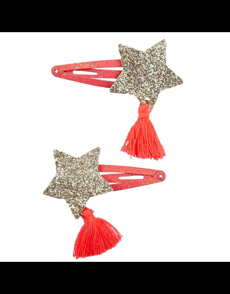 Great Pretenders Sassy Tassy Star Hairclips, 2 Pcs