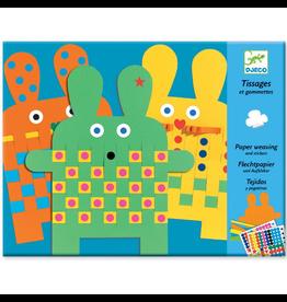Djeco Create With Weaving & Stickers - 6 Bunnies