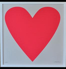 Banquet Neon Heart Print