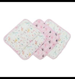 Loulou Lollipop Unicorn Dream Washcloth 3pk