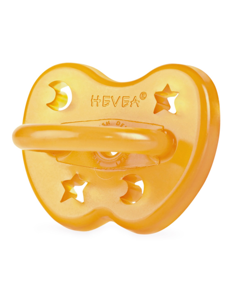 Hevea Natural Rubber Pacifier 3m+ - Star & Moon Orthodontic