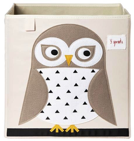 3 Sprouts Storage Box Owl
