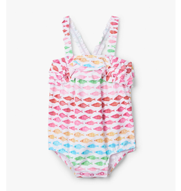 Hatley Watercolour Fishies Baby Swimsuit 9-12m