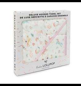 Loulou Lollipop Unicorn Dream Hooded Towel & Cloth