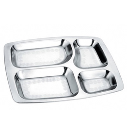 Stainless Divided Lunch Tray