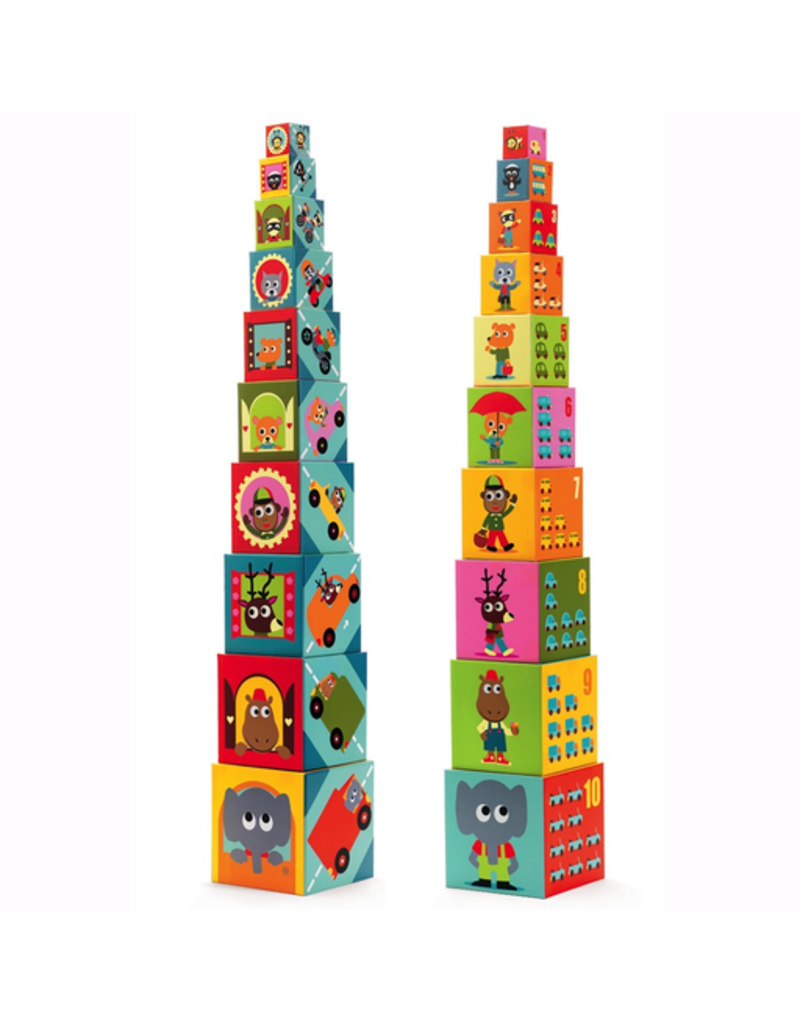 Djeco Stacking Cubes Vehicles