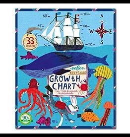 Eeboo Growth Chart - Big Blue Whale