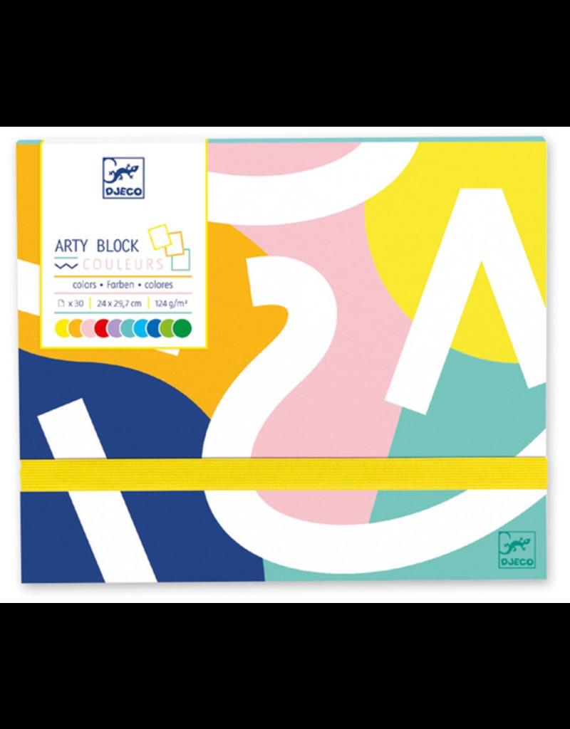Djeco Arty Block - Coloured Paper