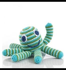 Pebble Octopus Rattle Green