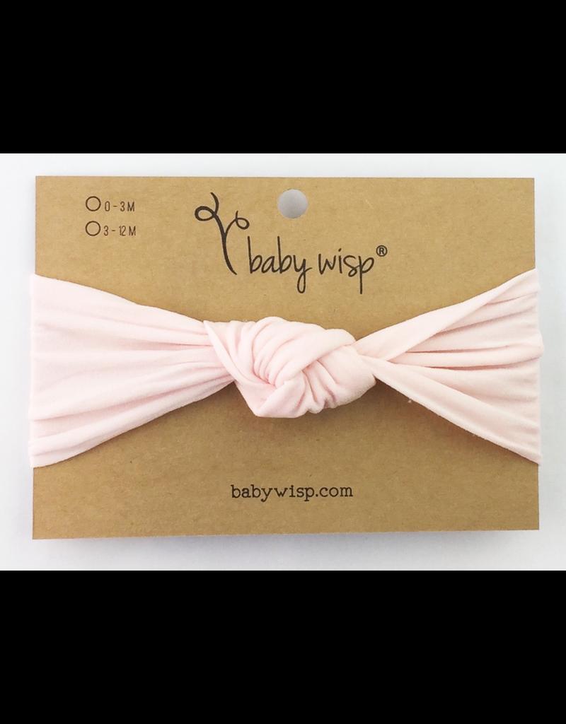 Baby Wisp Turban Knot Headband, Pink, 0-2y
