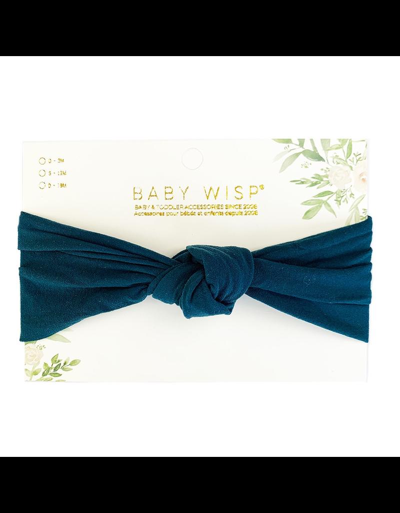Baby Wisp Turban Knot Headband, Deep Teal, 0-2y