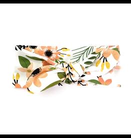 Baby Wisp Top Knot Headband, Peach Tropics, 3m+