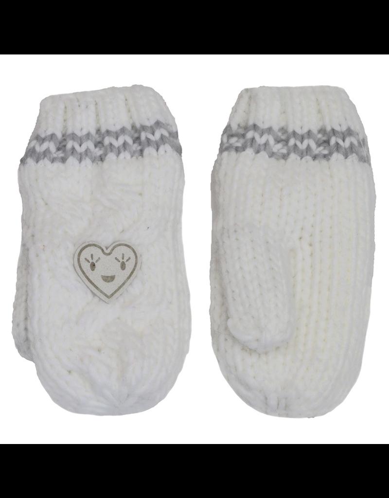 Knit Heart Winter Mittens