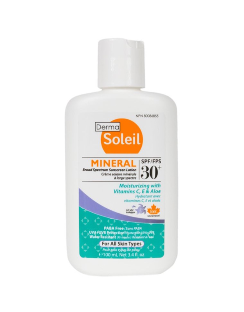 Mineral Broad Spectrum Sunscreen Lotion, SPF 30, 100ml