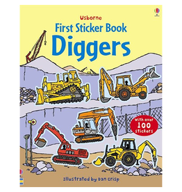 Usborne First Sticker Book: Diggers
