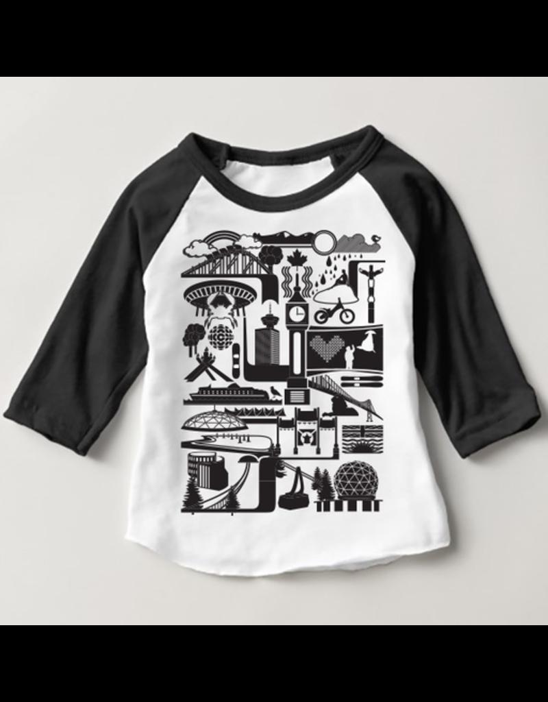 True North Vancity Icons Kids Raglan T-Shirt