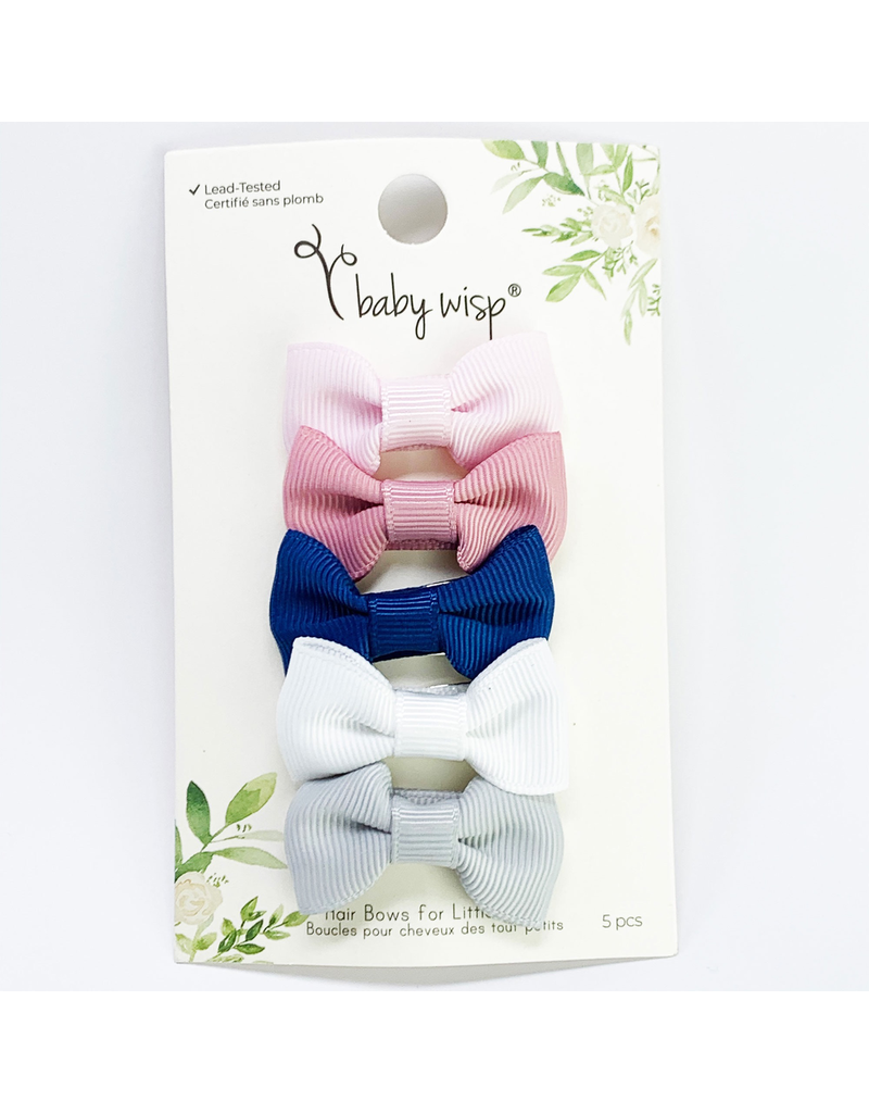 Baby Wisp Charlotte Bows Snap Clip Sumber Party 5pk