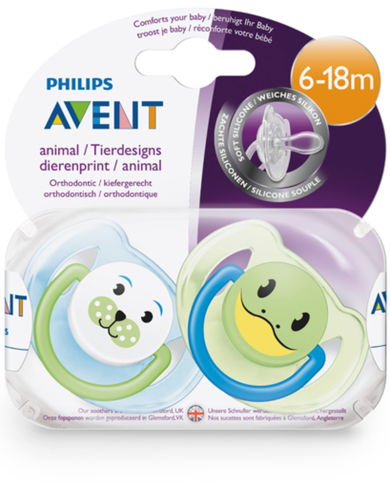 Philips Avent Philips Avent Animal Silicone Pacifier