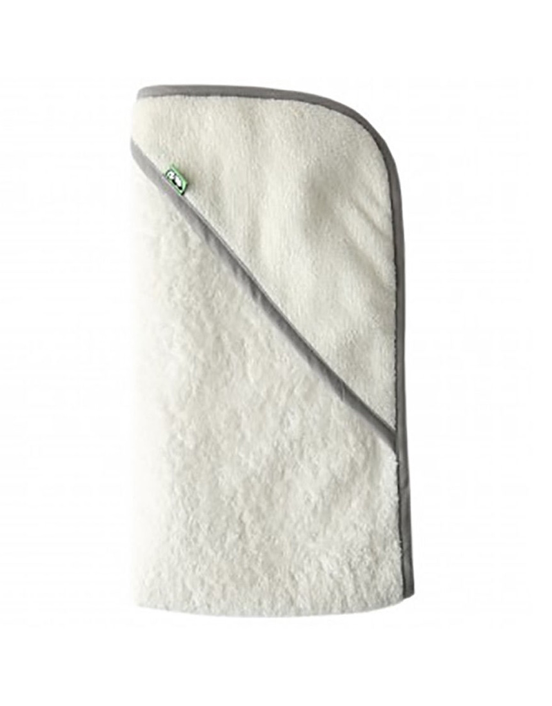 Bamboo Baby Hooded Towel - Grey Trim