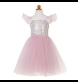 Great Pretenders Silver Sequins Princess Dress, 3-4Y