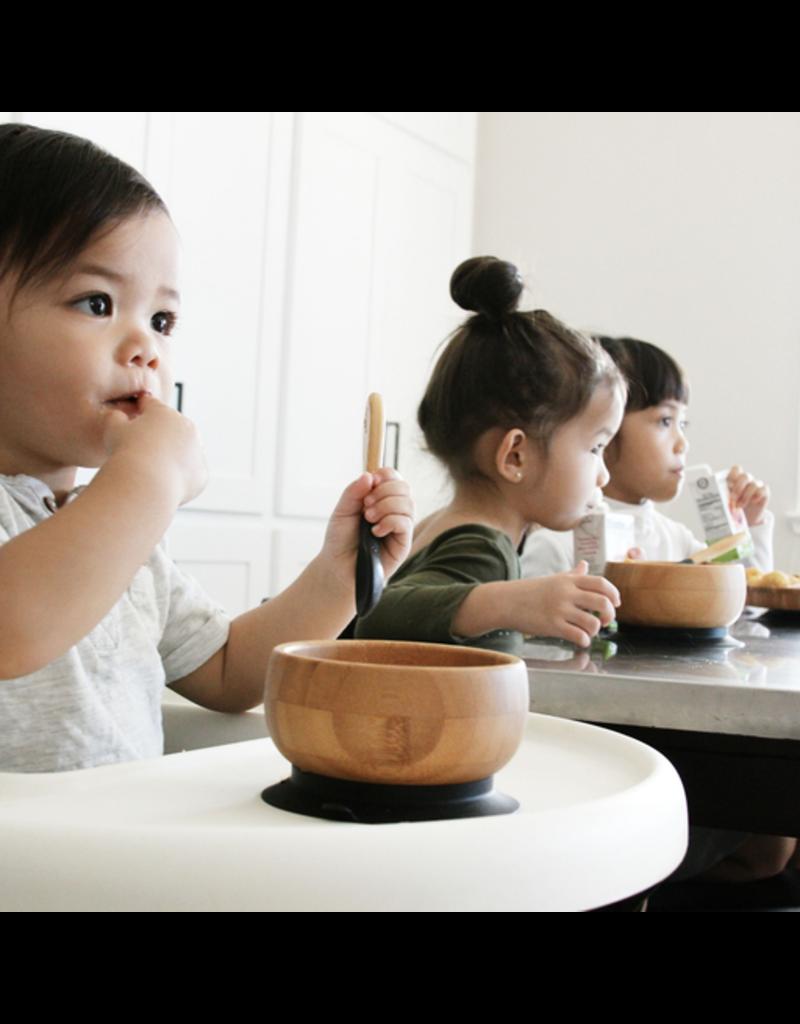 Avanchy Bamboo Bowl & Spoon Set - White