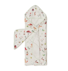 Loulou Lollipop Woodland Gnome Hooded Towel & Cloth