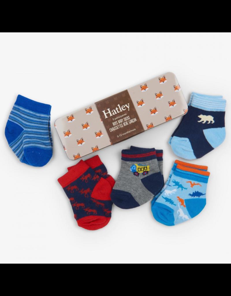 Hatley Baby Boys Crew Sock Gift Tin