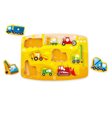 Hape Toys Construction Site Peg Puzzle