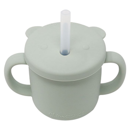 Grow with Me Silicone Bear Cup - Sage
