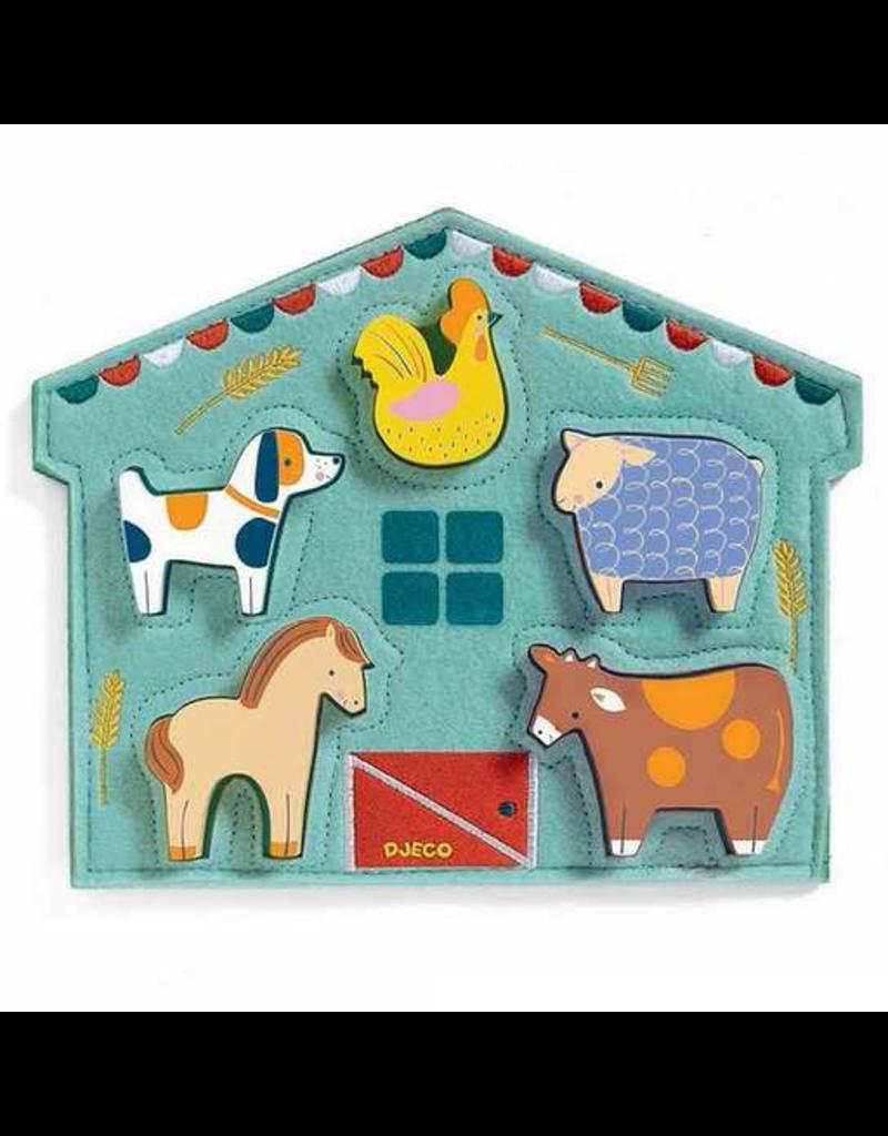 Djeco Relief Puzzle - Mowy - 5pc
