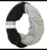 Infinity Breastfeeding Scarf - Jet/Smoke/Metallic Cuff