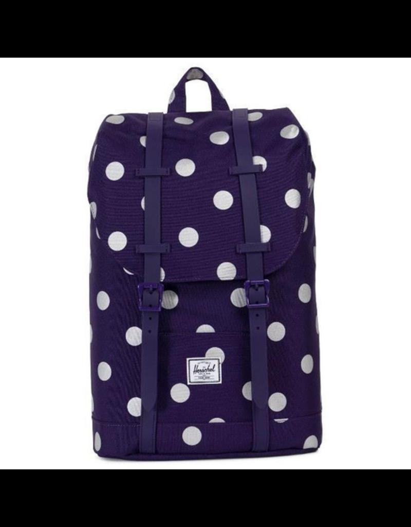 Herschel Retreat Backpack - Purple Polkadot