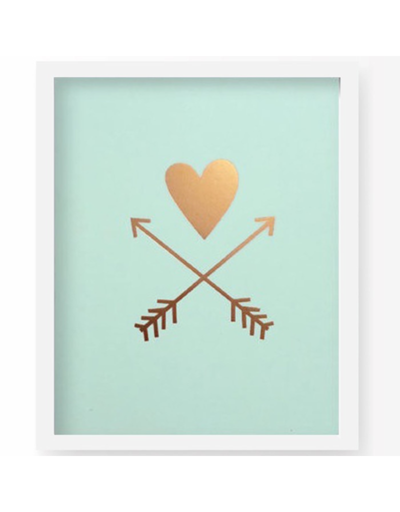 Lucy Darling Heart and Arrows Art Print Framed