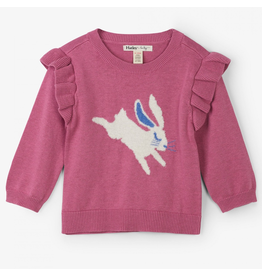 Hatley Sweet Bunny Baby Ruffle Sweater 6-9m, 9-12m