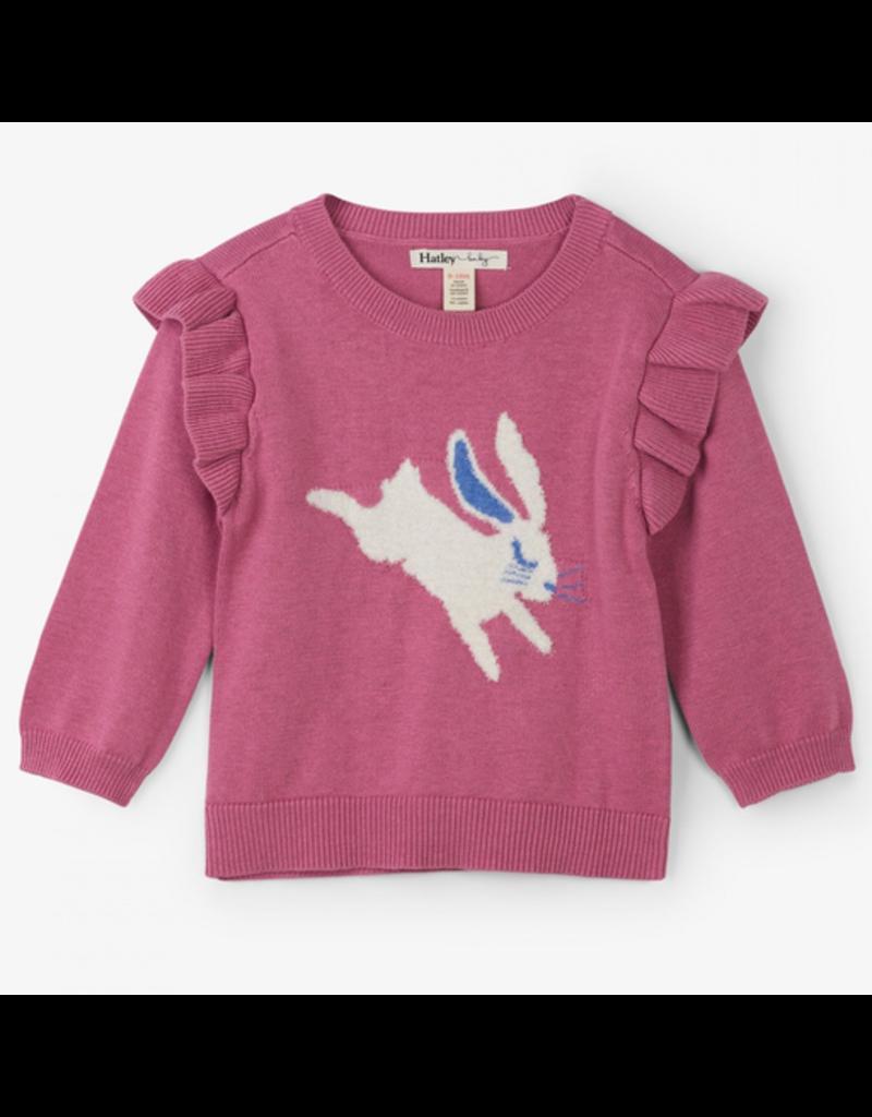 Hatley Sweet Bunny Baby Ruffle Sweater