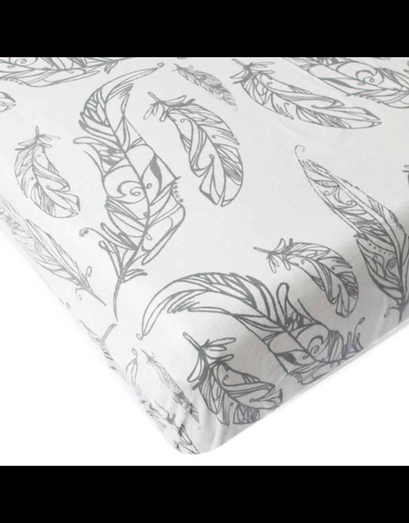 Crib Sheet Feather White