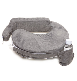 Deluxe Baby Nursing Pillow, Evening Grey