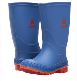 Kamik Blue/Orange Stomp Rain Boots Size 5