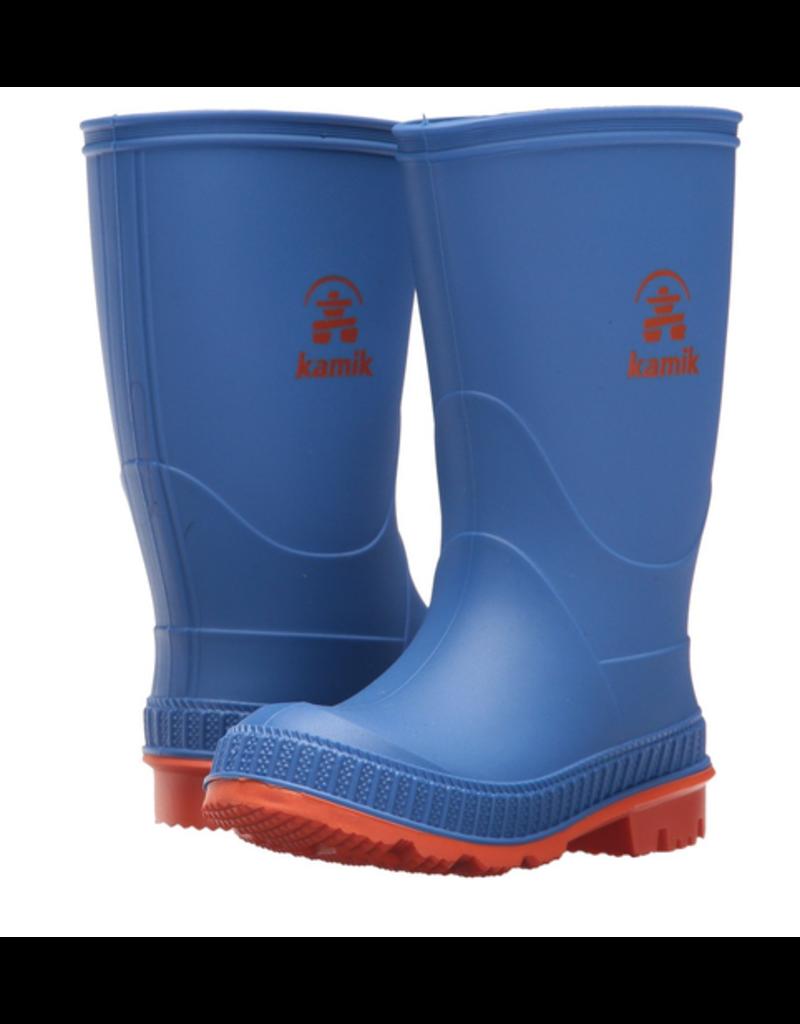 Kamik Blue/Orange Stomp Rain Boots