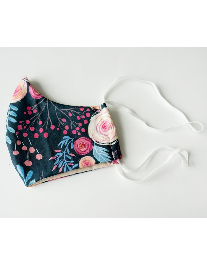 Adult Fabric Mask Roses