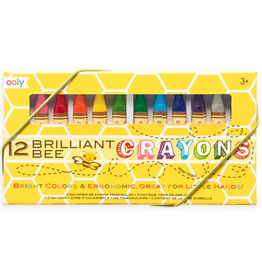 Ooly Brilliant Bee Crayons - 12