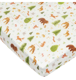 Loulou Lollipop Forest Friends Fitted Crib Sheet