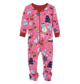 Hatley Holiday Sweets Organic Footed Coverall